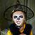 halloween · korkutucu · portre · sevimli · kız · kostüm - stok fotoğraf © pressmaster