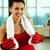 спортзал · женщину · боксерские · перчатки · глядя · дружественный - Сток-фото © pressmaster