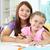 Mutter · Tochter · schauen · Kamera · Zeichnung · zusammen - stock foto © pressmaster