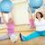idős · nő · fitt · labda · testmozgás · személyi · edző - stock fotó © pressmaster