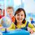 szczęśliwy · kobiet · dziecko · uśmiechnięty · radości · przedszkole - zdjęcia stock © pressmaster