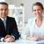 twee · glimlachend · camera · vergadering · business - stockfoto © pressmaster