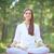 portrait · femme · méditation · poste · blanche · ciel - photo stock © pressmaster