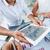 empresario · gráfico · digital · tableta · imagen - foto stock © pressmaster