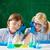 aandachtig · schooljongen · chemische · experiment · laboratorium · school - stockfoto © pressmaster