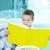 menino · leitura · interessante · livro · fundo · juventude - foto stock © pressmaster