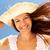 ventoso · verano · retrato · sonriendo · nina · día - foto stock © pressmaster