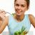 faim · portrait · joli · jeune · fille · regarder · légumes - photo stock © pressmaster