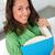 счастливым · молодые · Lady · книга · рук - Сток-фото © pressmaster