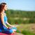 paz · perfil · meditando · mujer · relajante · plantean - foto stock © pressmaster