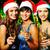 tre · champagne · giovani · donna · sorridente - foto d'archivio © pressmaster