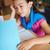 portret · cute · schoolmeisjes · lezing · klas · student - stockfoto © pressmaster