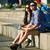 senalización · de · la · carretera · opciones · decisiones · cielo · azul · azul - foto stock © pressmaster