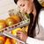 meisje · kopen · producten · afbeelding · mooie · vrouw · wat - stockfoto © pressmaster