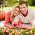 affectueux · famille · parc · portrait · famille · heureuse · couché - photo stock © pressmaster