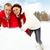 sneeuwpop · paar · illustratie · familie · sneeuw · winter - stockfoto © pressmaster
