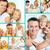 dom · rodzinny · kolaż · szczęśliwy · rodziców · córka · domu - zdjęcia stock © pressmaster
