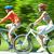 biciklisták · mozgás · kép · kettő · lovaglás · lefelé - stock fotó © pressmaster