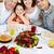 retrato · alegre · mãe · filha · bolo · tabela - foto stock © pressmaster