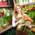 Blumen · Porträt · glücklich · weiblichen · Blumengeschäft · Haufen - stock foto © pressmaster