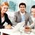 munka · csoport · három · üzletemberek · néz · kamera - stock fotó © pressmaster