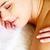 perto · massagem · mulher · menina · mao · rosto - foto stock © pressmaster