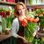 glücklich · Blumengeschäft · Porträt · jungen · weiblichen · groß - stock foto © pressmaster