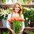 Verkauf · Tulpen · Porträt · jungen · weiblichen · Blumengeschäft - stock foto © pressmaster