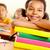 молодой · читатель · портрет · счастливым · школьница · открытой · книгой - Сток-фото © pressmaster