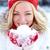 kar · portre · mutlu · kız · avuç · içi · bakıyor - stok fotoğraf © pressmaster