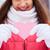 jonge · vrouwelijke · roze · papier · hart · vrouw - stockfoto © pressmaster