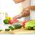 egészséges · étel · közelkép · lövés · szeletel · zöldségek · vágódeszka - stock fotó © pressmaster