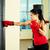 boxe · treinamento · retrato · mulher · jovem · vermelho · luvas · de · boxe - foto stock © pressmaster