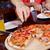 egész · sült · pizza · fa · deszka · sajt · vacsora - stock fotó © pressmaster