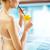 少女 · 飲料 · レモネード · スイミングプール · 美 - ストックフォト © pressmaster