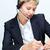 ocupado · secretario · retrato · jóvenes · auricular - foto stock © pressmaster