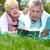 szczęśliwy · starszy · kobieta · czytania · książki · lata - zdjęcia stock © pressmaster