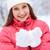 winter · bekoring · mooie · vrouw · ingericht · sneeuwvlokken · naar - stockfoto © pressmaster