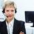 bastante · recepcionista · retrato · servicio · al · cliente · operador · auricular - foto stock © pressmaster