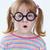 geek · ritratto · ragazza · divertente · occhiali - foto d'archivio © pressmaster