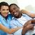 amoureuse · couple · image · jeunes · africaine · regarder - photo stock © pressmaster