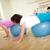 idős · nő · edző · testmozgás · fitnessz · labda - stock fotó © pressmaster