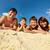 aile · plaj · başvurmak · büyük - stok fotoğraf © pressmaster