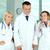 vicces · orvosok · portré · férfi · vágólap · kettő - stock fotó © pressmaster