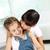twee · mooie · kinderen · zoenen · moeder · gelukkig - stockfoto © pressmaster