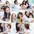 famille · collage · famille · heureuse · quatre · temps - photo stock © pressmaster
