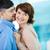 кокетливый · поцелуй · портрет · счастливым - Сток-фото © pressmaster