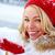 сезон · портрет · счастливая · девушка · снега · ладонями - Сток-фото © pressmaster