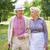 piedi · felice · anziani · parlando - foto d'archivio © pressmaster