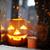 ardente · abóbora · halloween · fogo · cara · fundo - foto stock © pressmaster